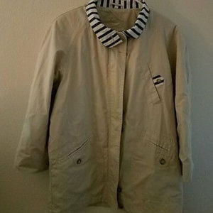 ORVIS Womens Small Tan Jacket with Blue Collar